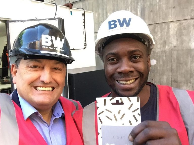 "BW Awarded KpH Site Supervisor ""Worker of the Month"""