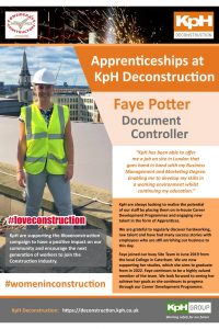 Poster – Apprenticeships at KpH – Faye Potter – Document Controller – v3 AH 06-09-2019-page-001