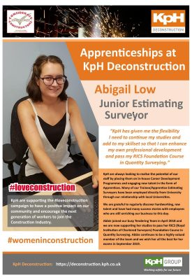 Poster – Apprenticeships at KpH – Abigail Low – Junior Estimating Surveyor – v4 AH 05-09-2019-page-001